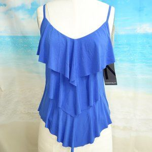 Miraclesuit Womens Tiered-Ruffle Tankini Top- 8